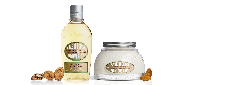 Almond Shower Oil and Delicious Paste - L'Occitane